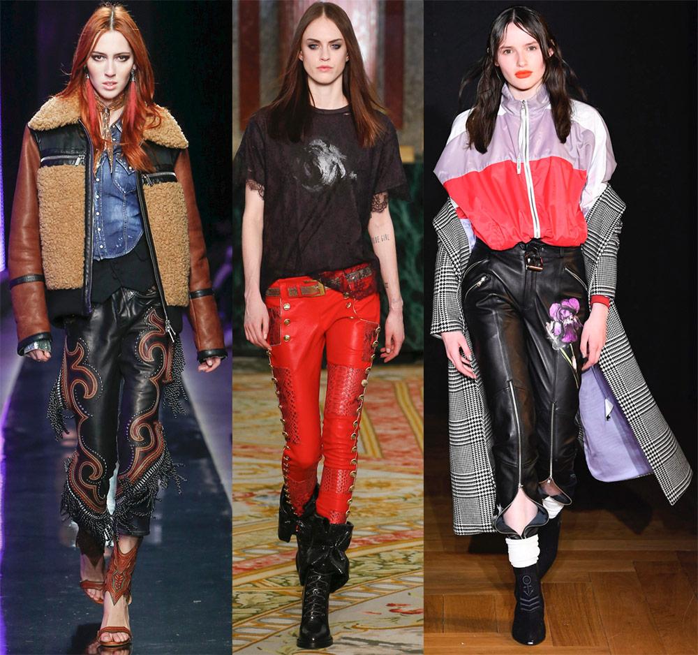Декор кожаных брюк
