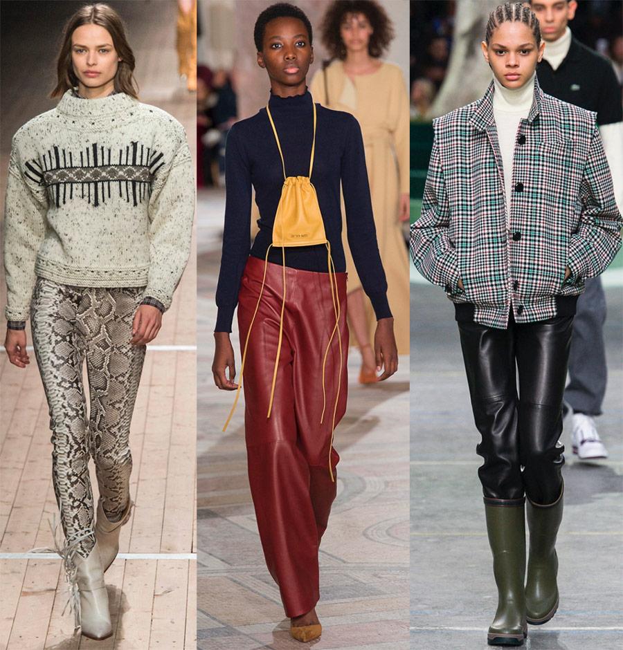 С чем носить кожаные брюки в 2018-2019 году