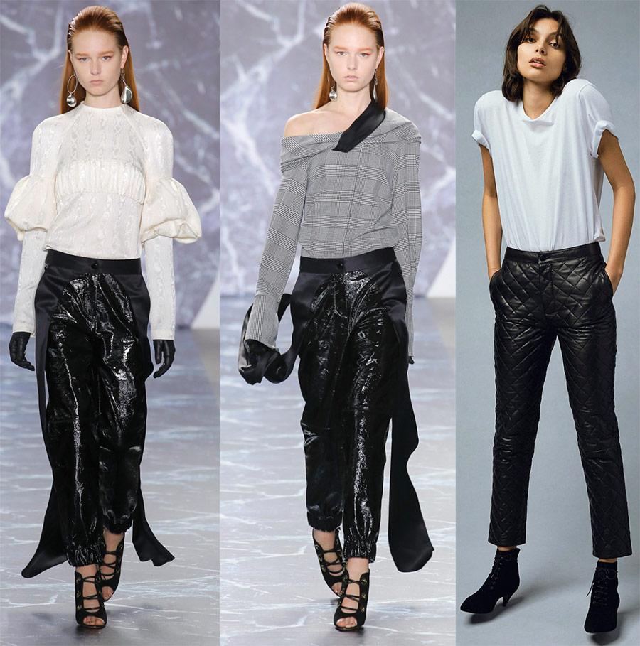 Кожаные брюки 2018-2019