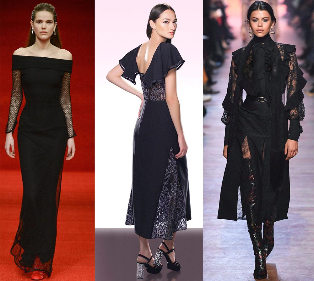 Самые красивые черные платья