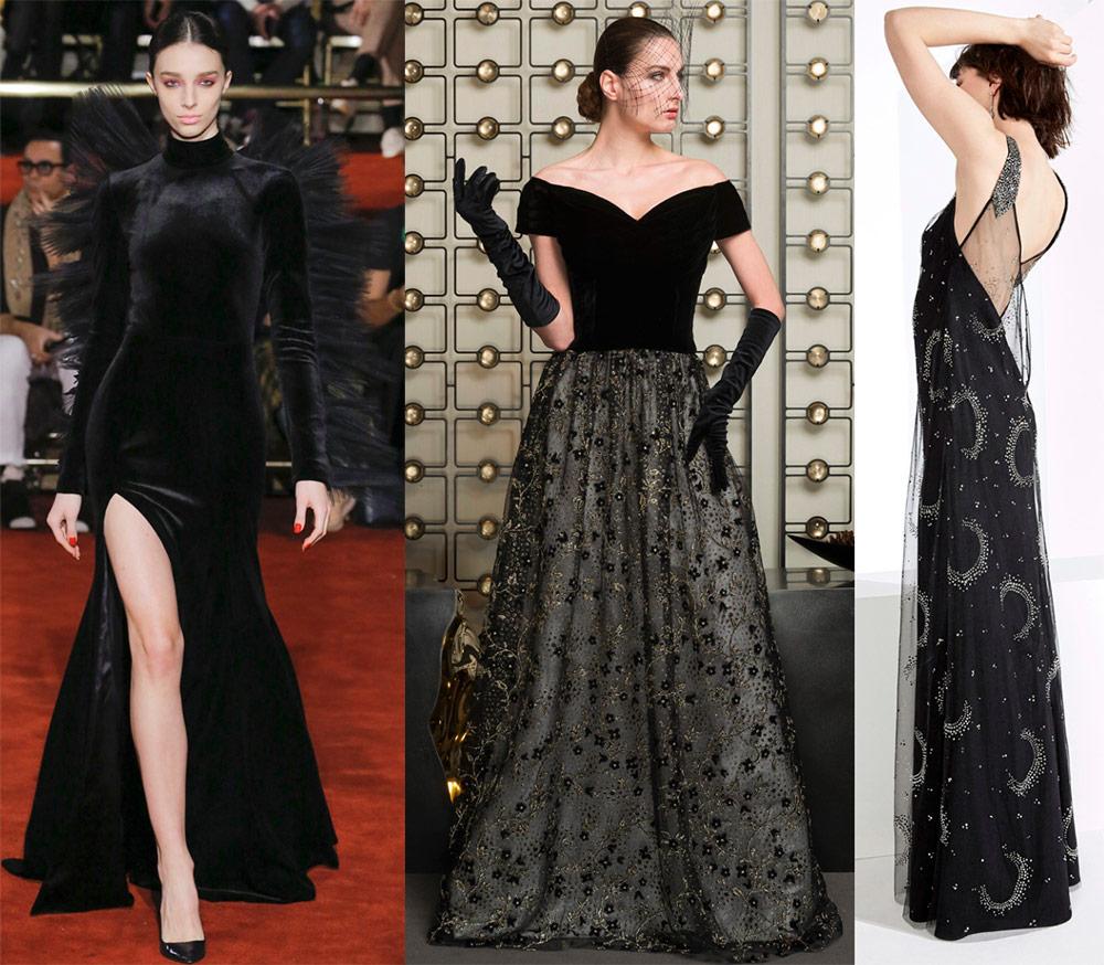 De smukkeste sorte kjoler