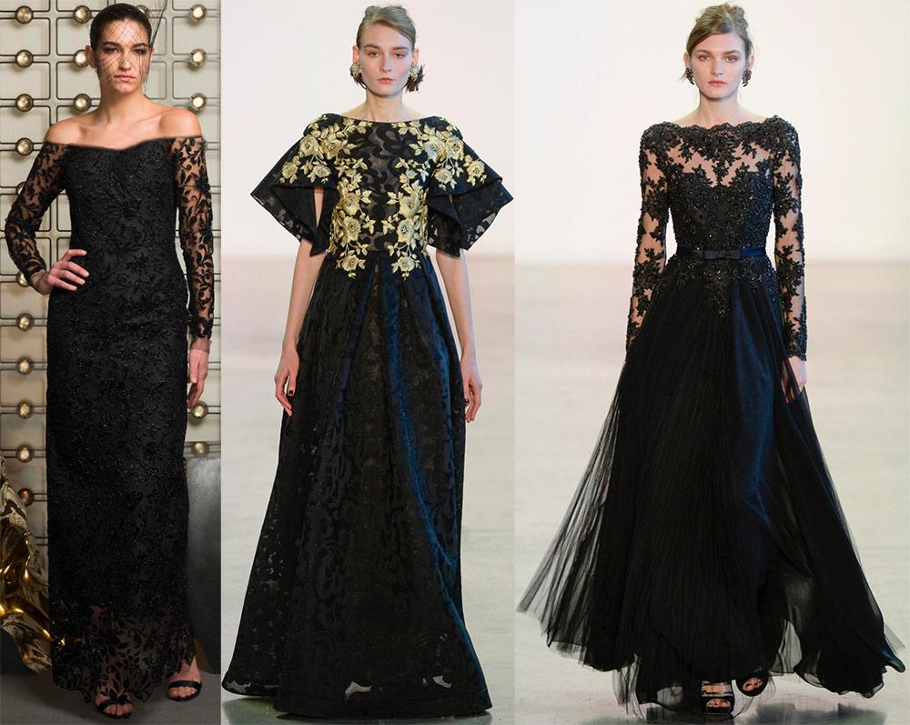 Svarte kjoler til fester og fester