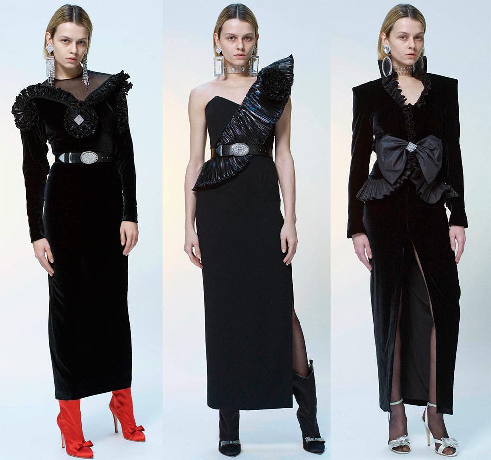 Модные черные платья