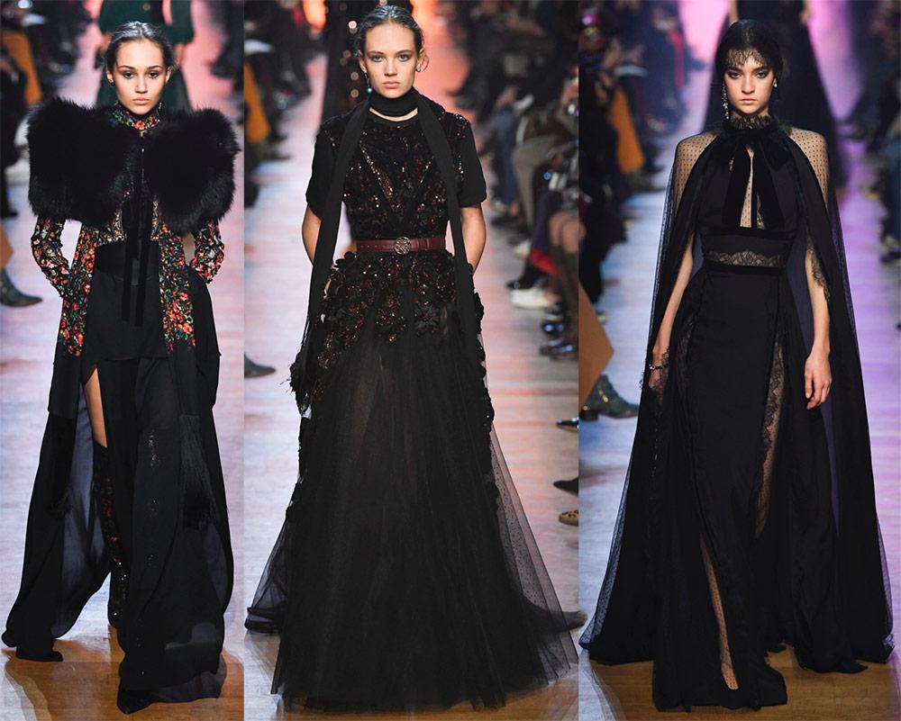 Pakaian hitam Elie Saab