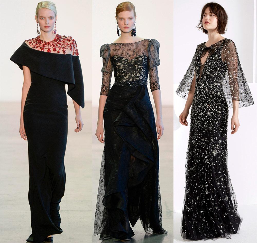 De vakreste sorte kjoler til fester og fester