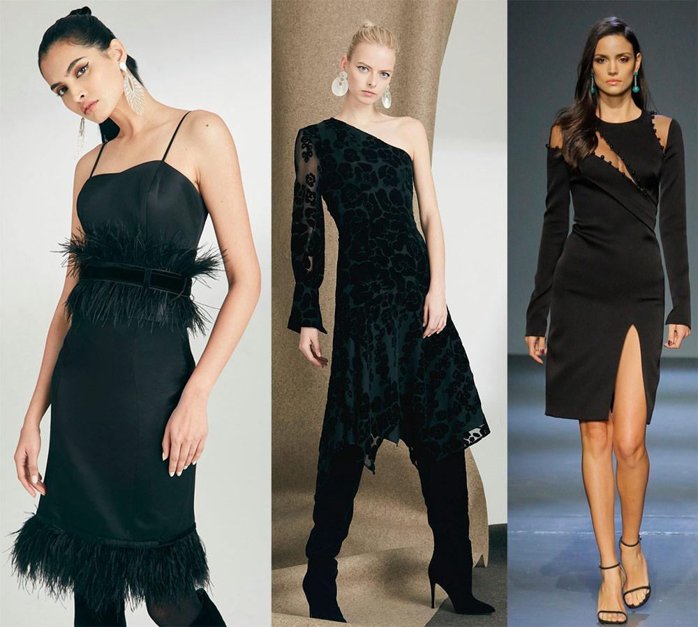 Korte svarte kjoler