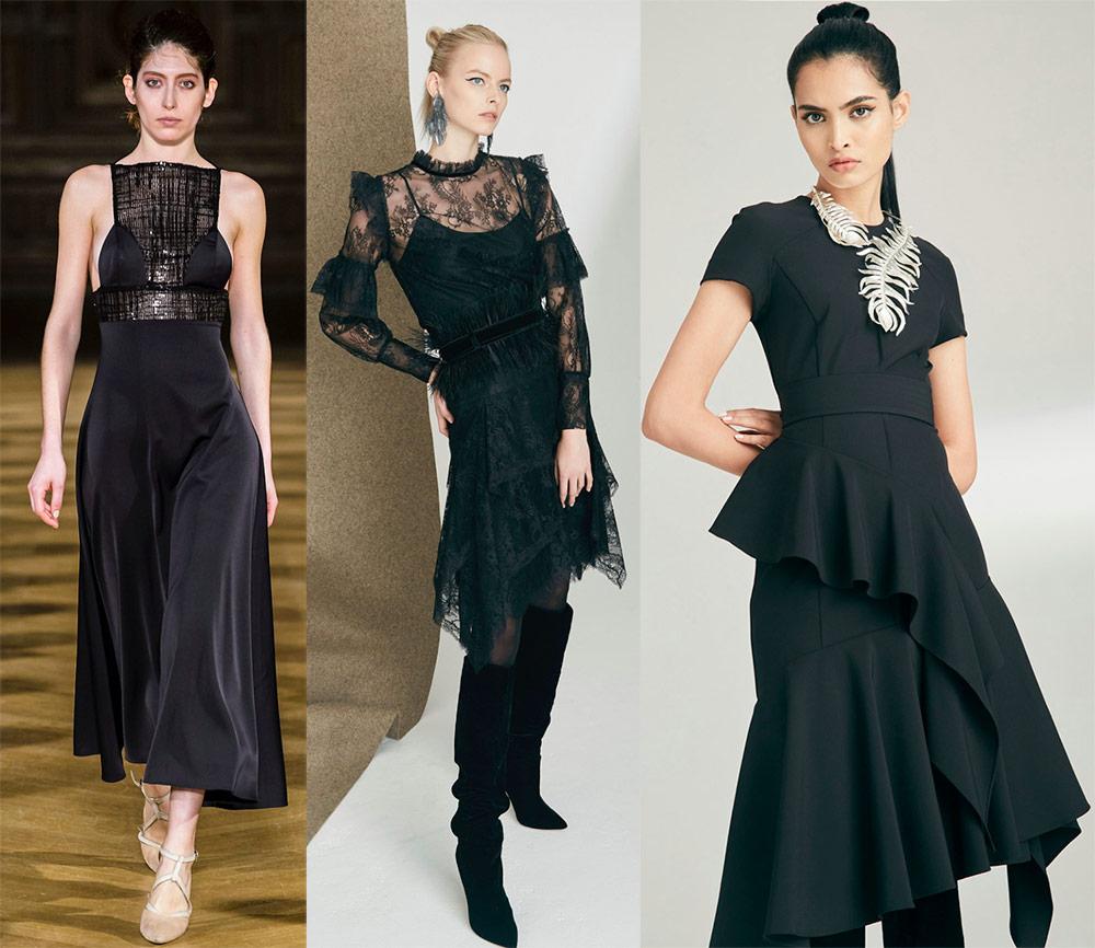 Trumpos juodos suknelės