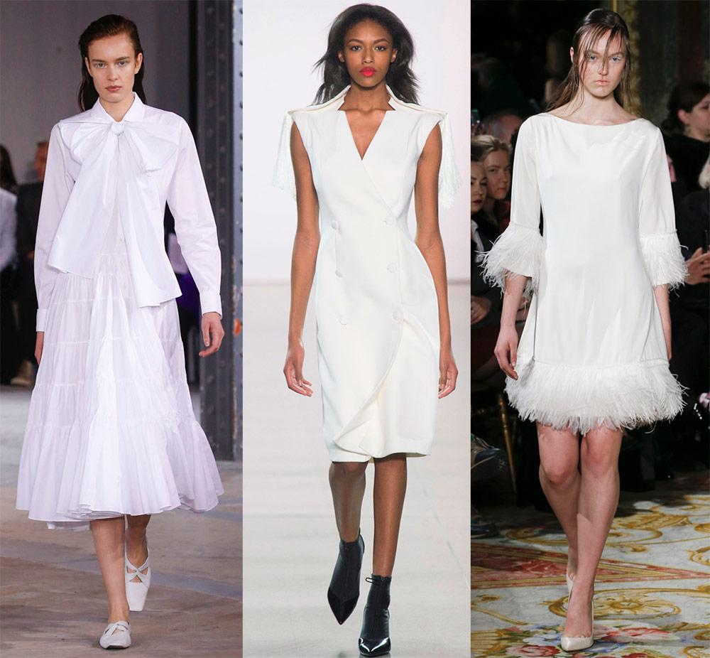 Зимние белые платья