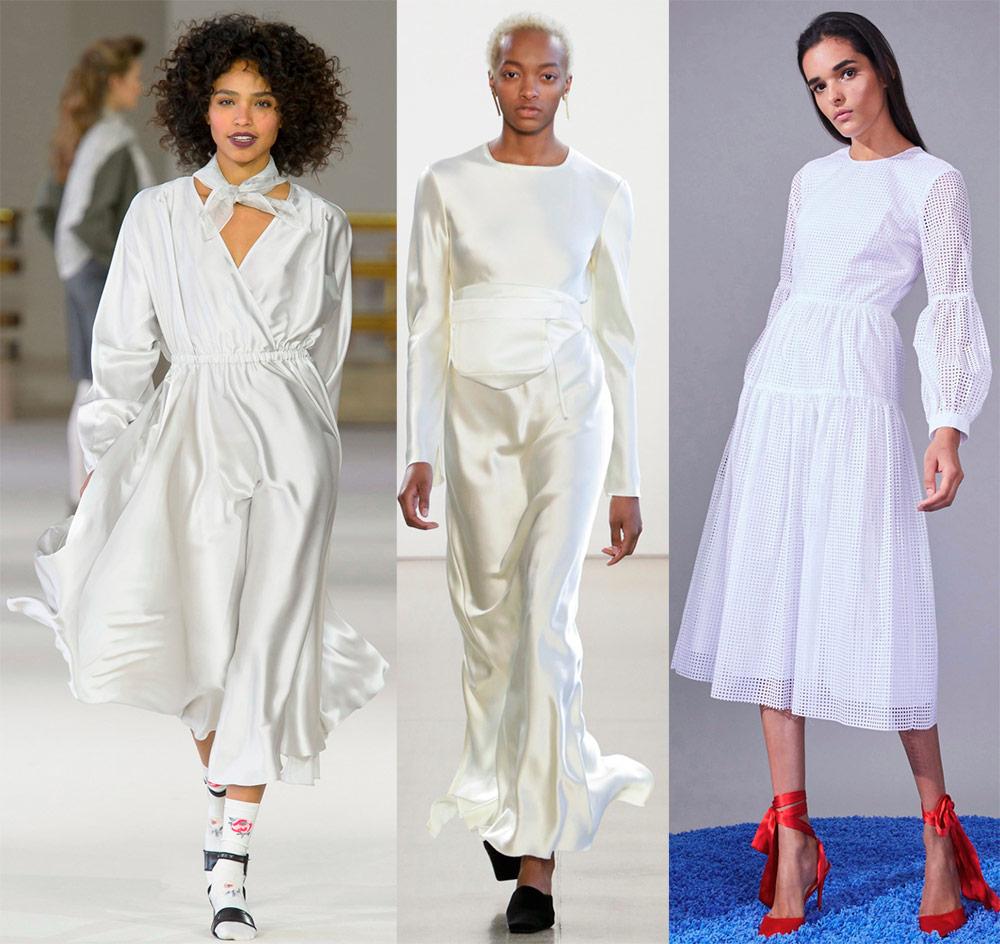 Белое платье 2018-2019