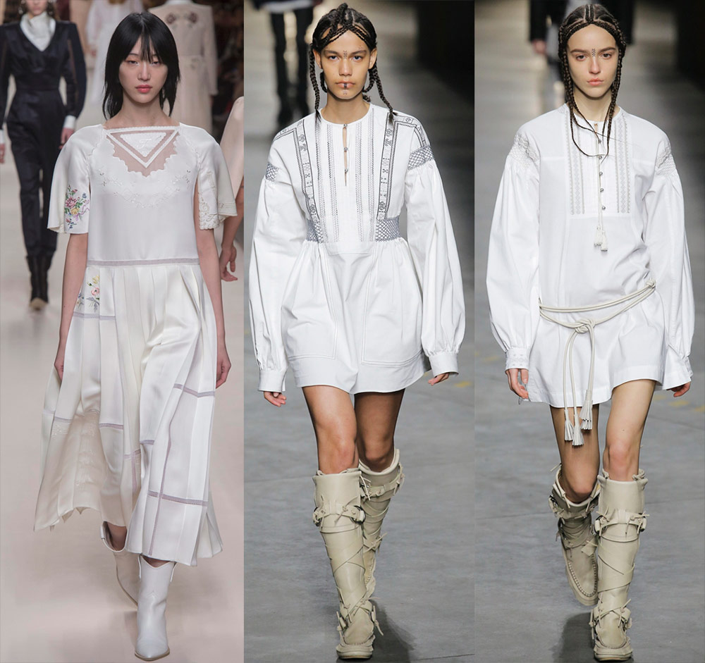 Зимние белые платья – модные образы