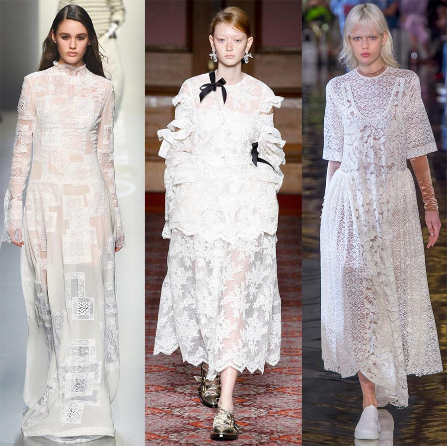 Нарядные белые платья