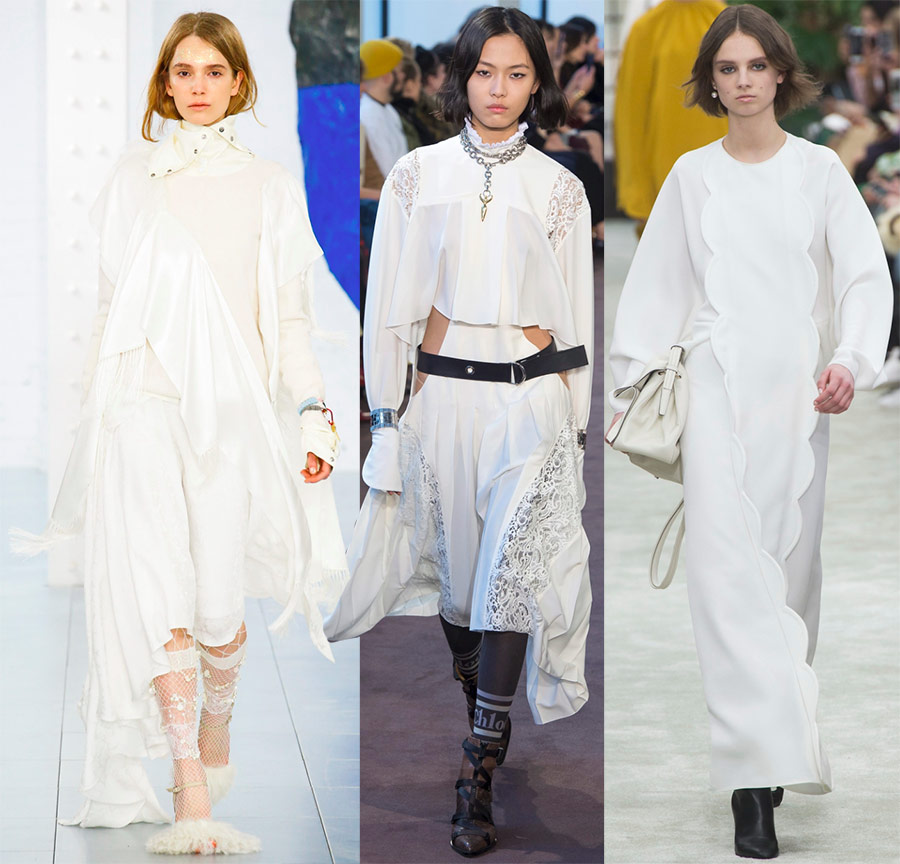 Модные белые платья 2018-2019