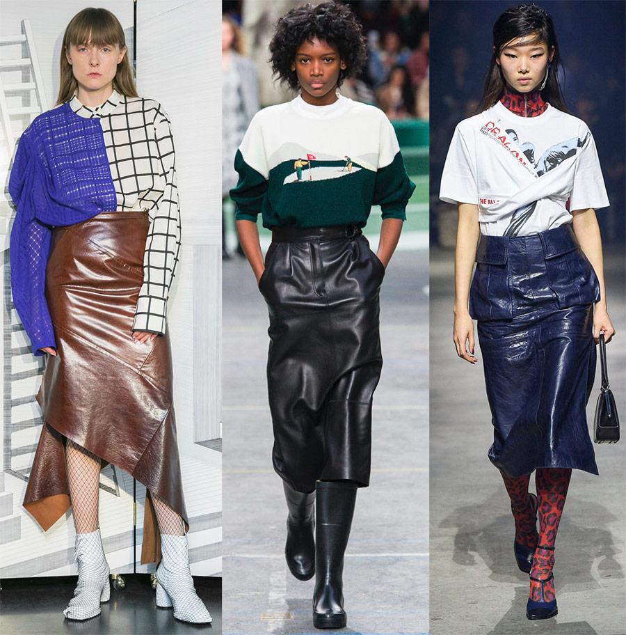 Moderigtige læder nederdele -2018-2019