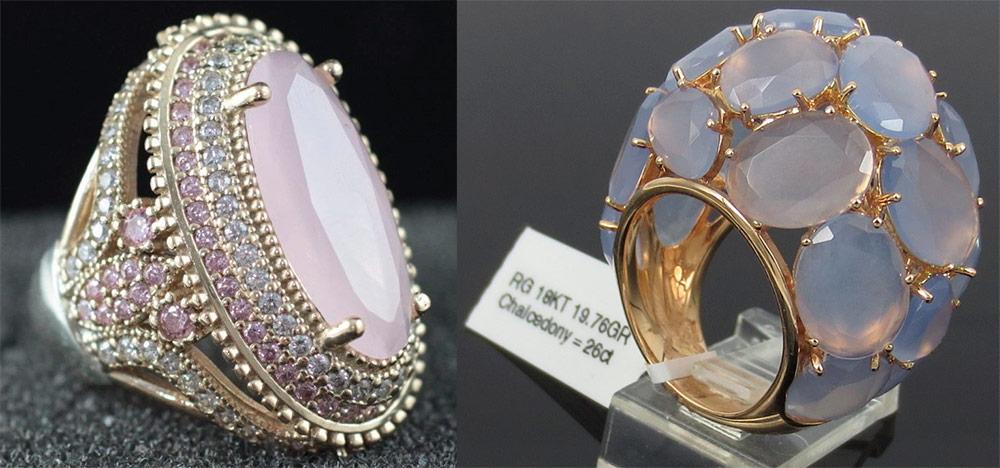Кольца с камнями