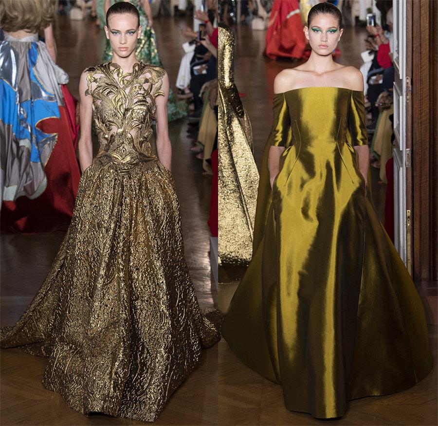 Золотые платья Valentino