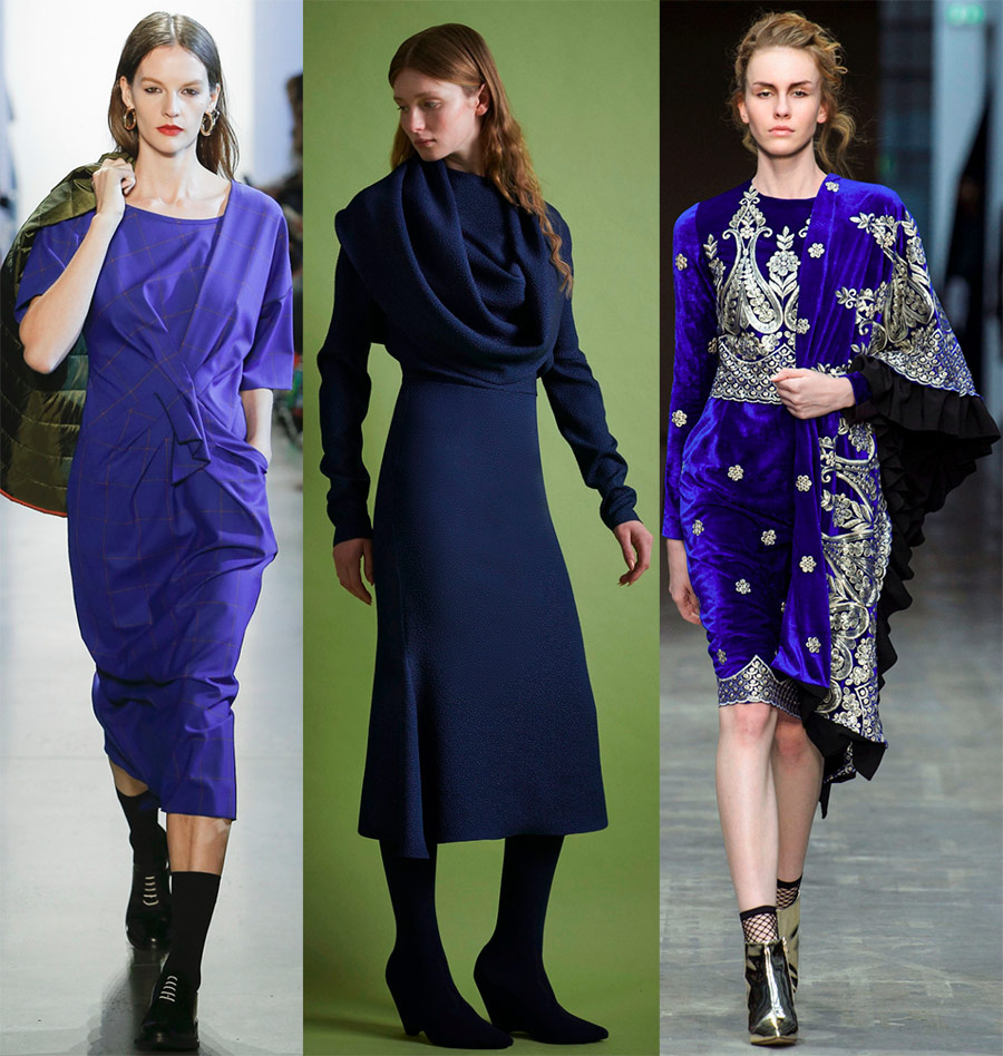 Повседневные синие платья