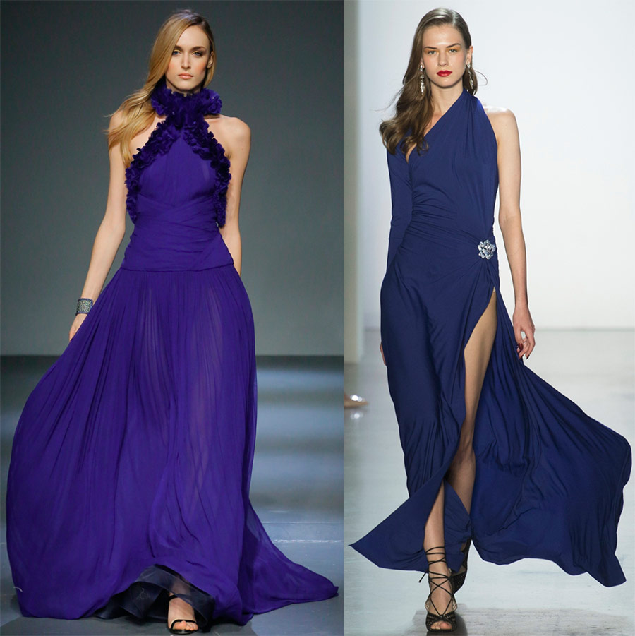 Вечерние синие платья
