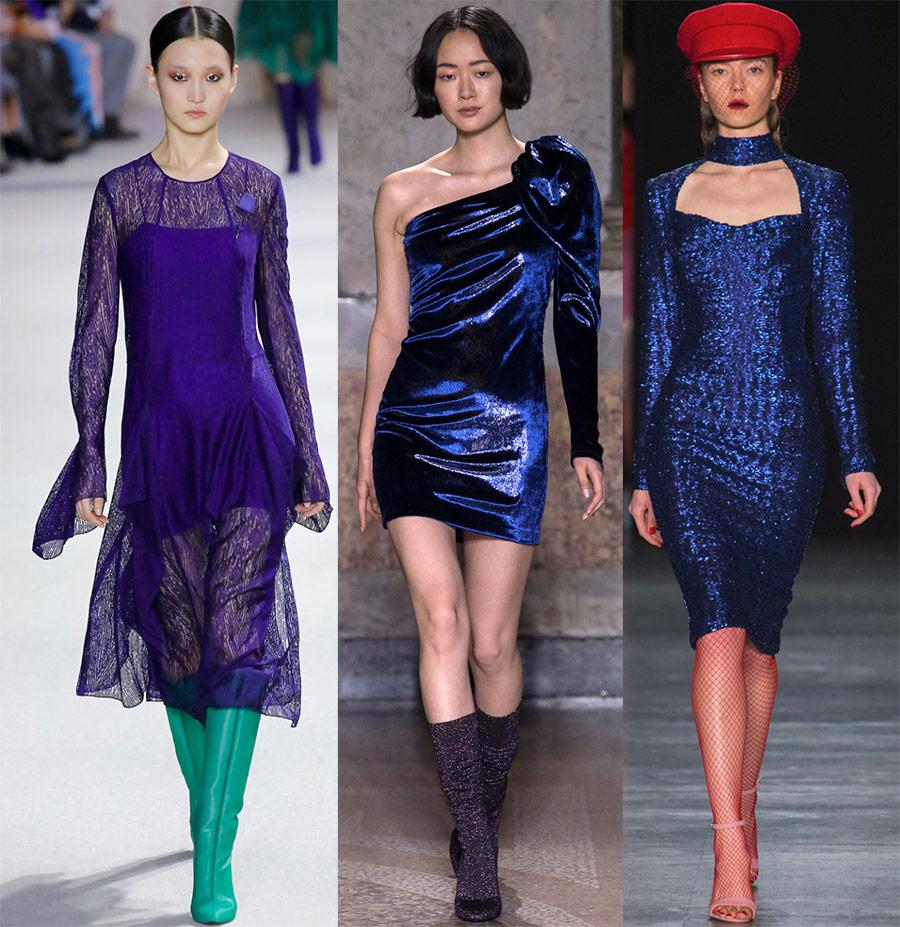 Нарядные платья синего цвета