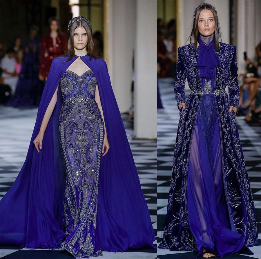 Вечерние синие платья Zuhair Murad