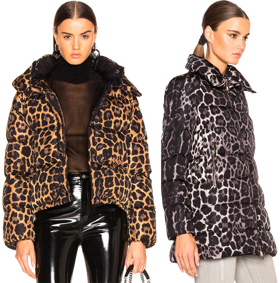 Леопардовый пуховик 2019