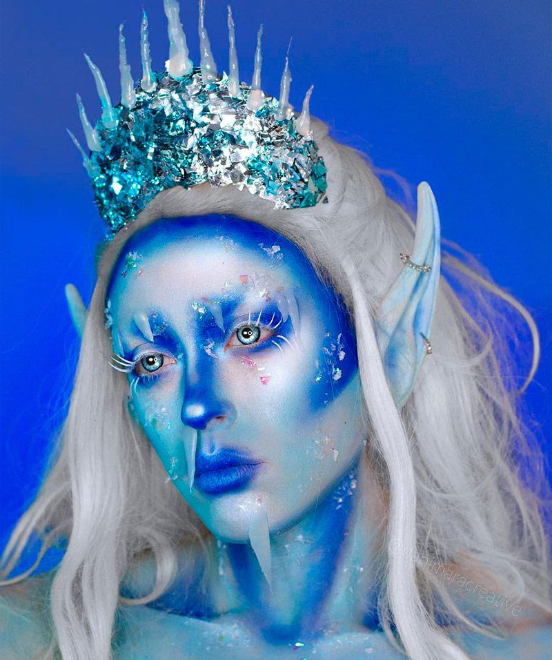 Фантазийный макияж Ледяная королева