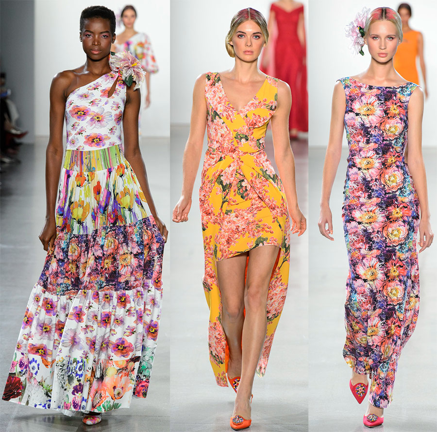 Spring and summer flowering dress and pants 2019