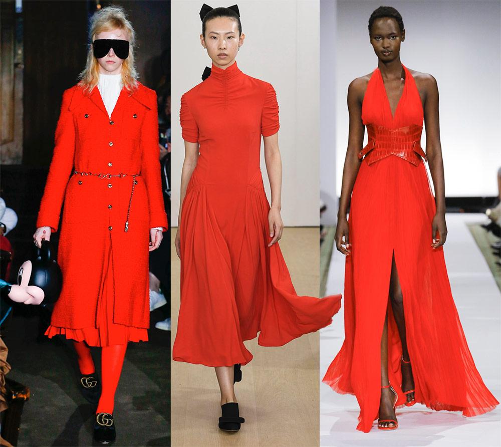Красные цвета в моде 2019