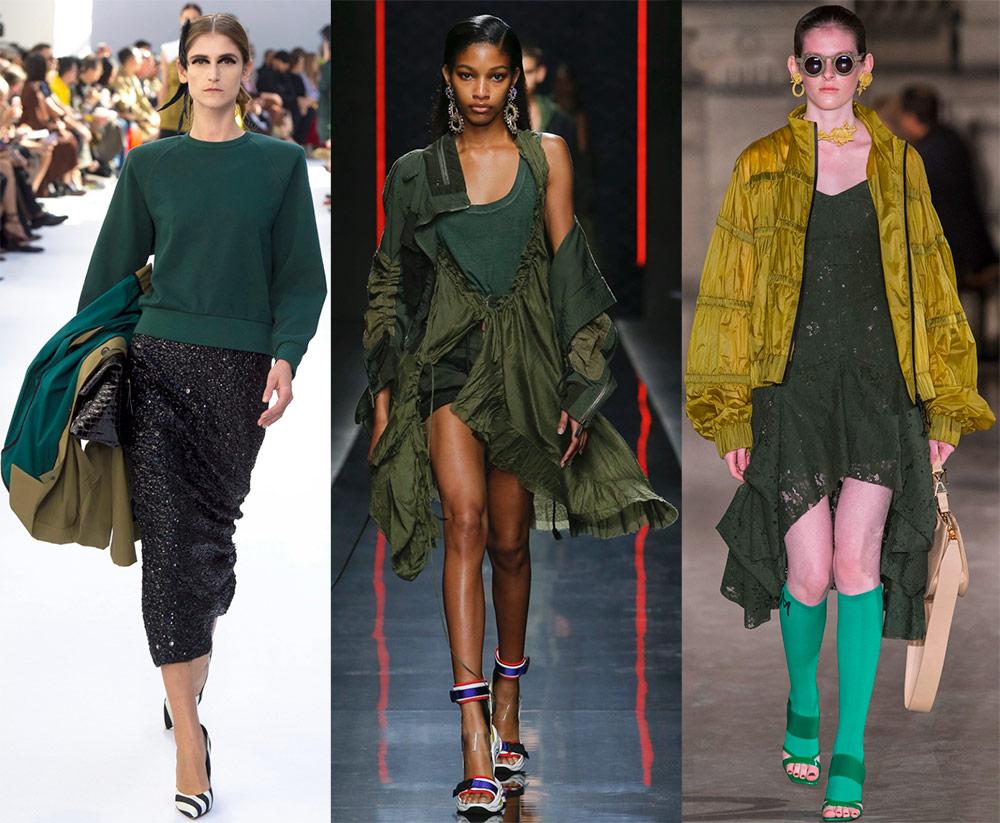 Оттенки зеленого в одежде