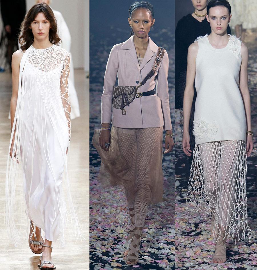 модные образы с сеткой