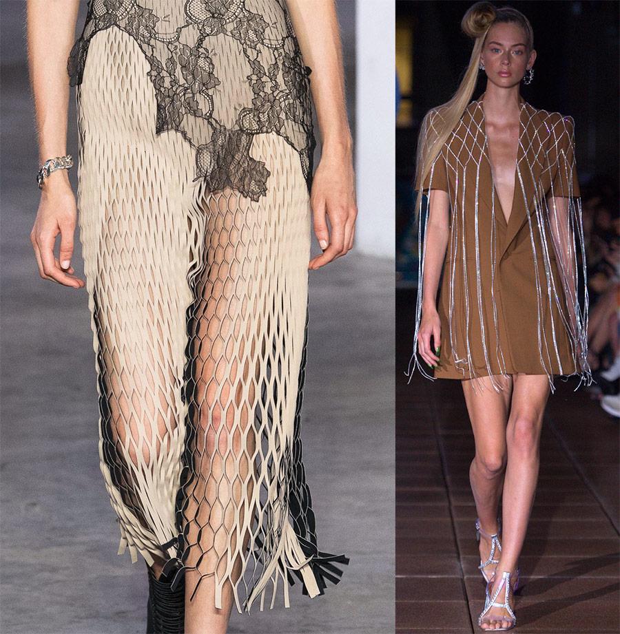 Элементы одежды из сетки