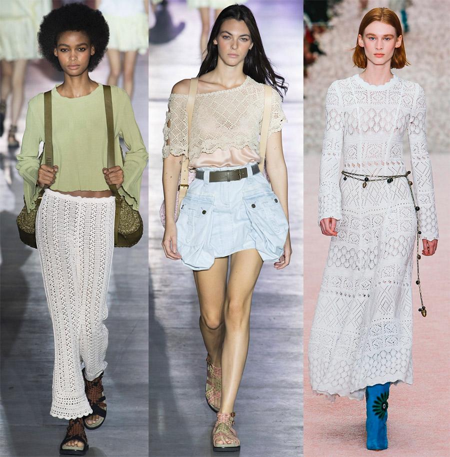 Кроше в модной одежде 2019