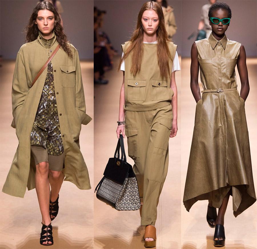 Модные образы в стиле милитари весна-лето 2019