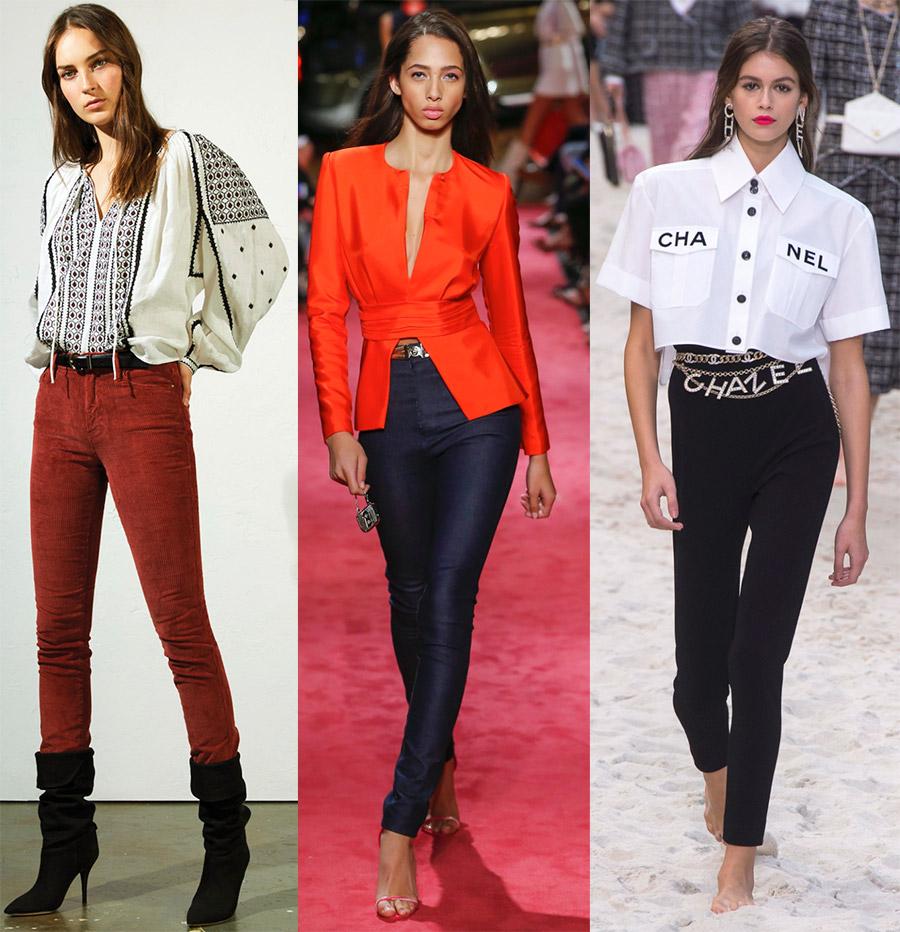 Узкие женские брюки