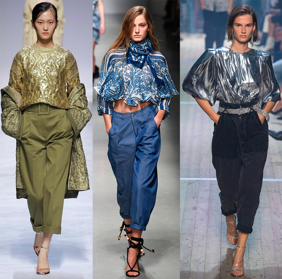 Женские брюки с подворотами