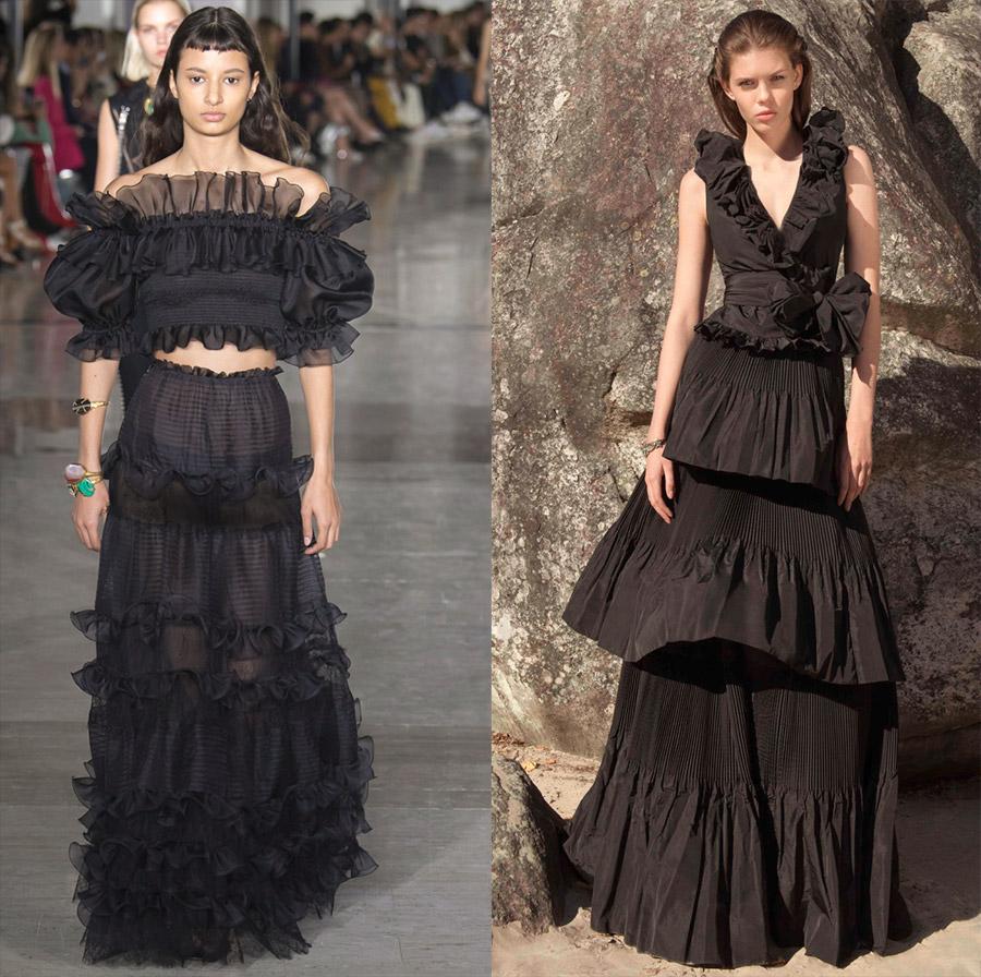 Красивые черные платья 2019