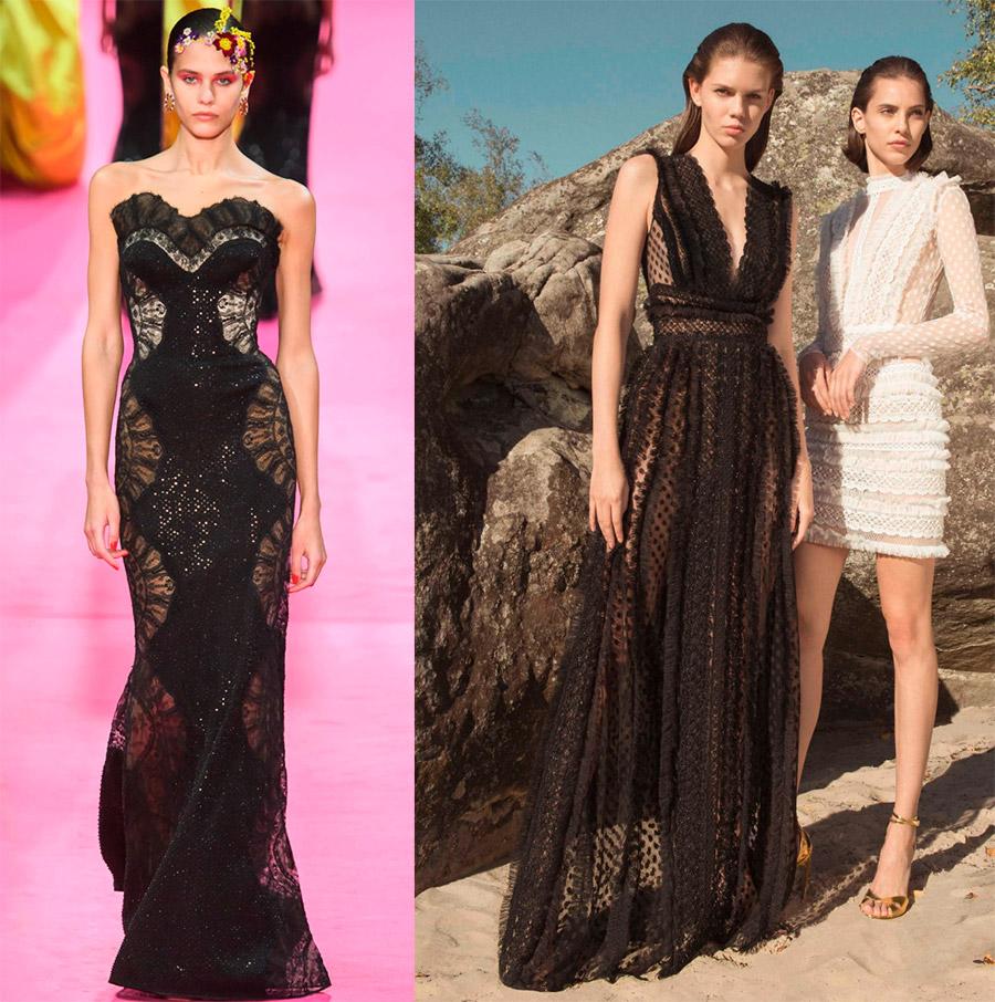 Нарядные черные платья