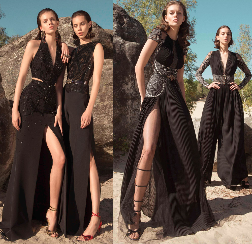 Красивые черные платья Zuhair Murad