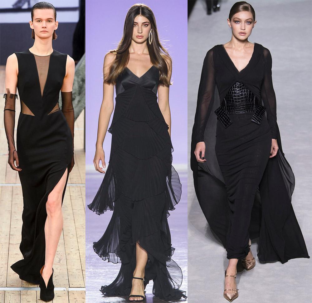 35 черных вечерних платьев на весну-лето 2019