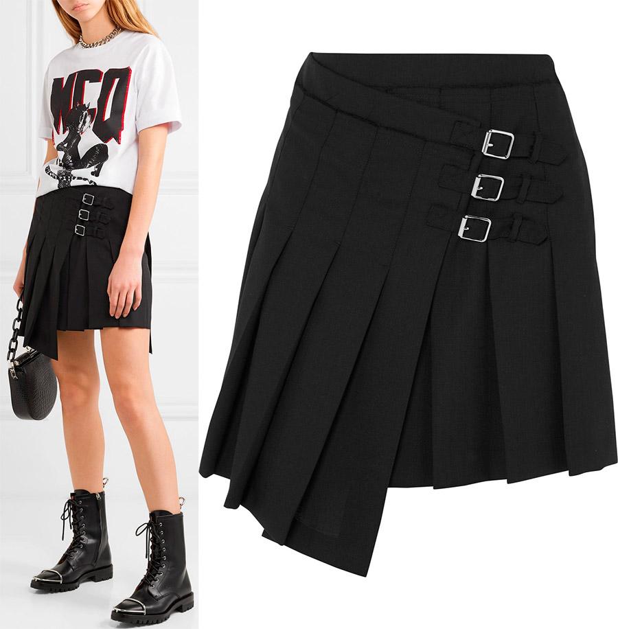 Ассиметричные плиссированные юбки