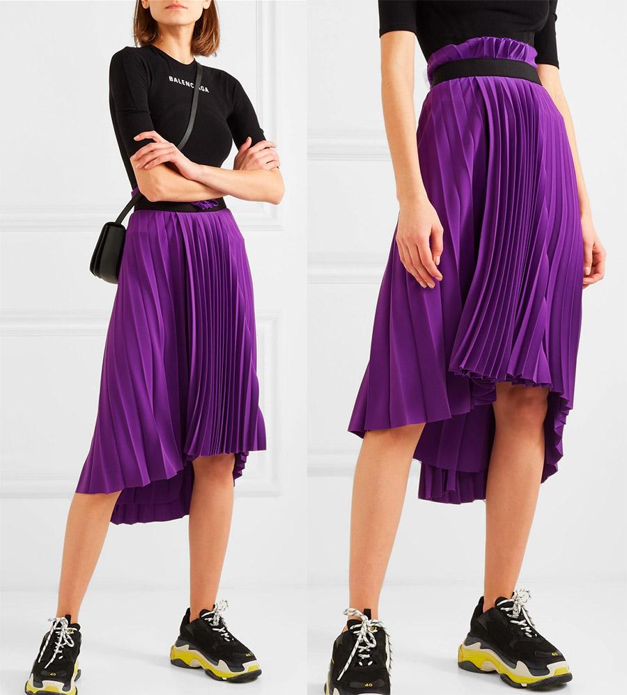 Balenciaga плиссированная юбка