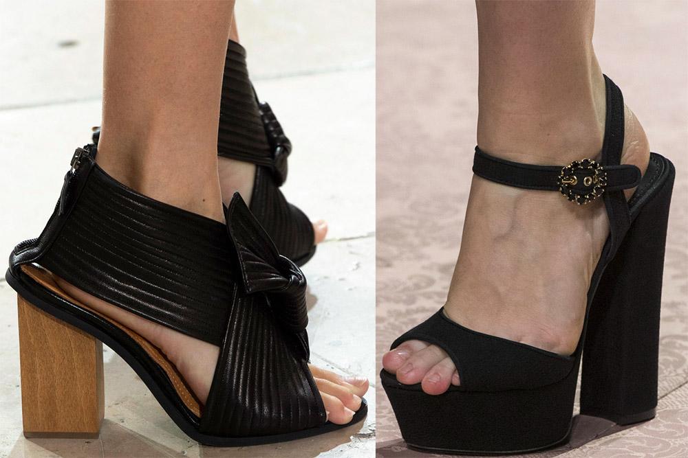Массивные каблуки 2019