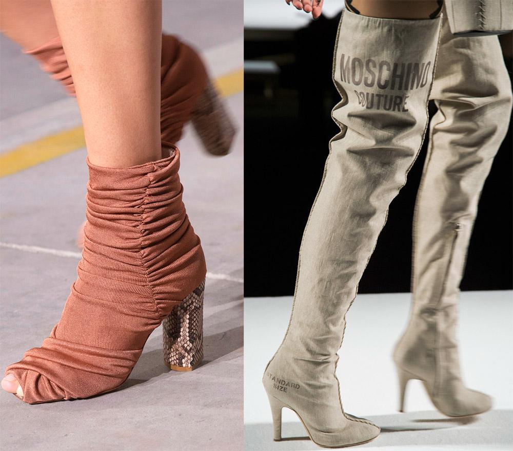 Модная текстильная обувь