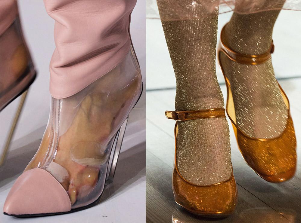 Прозрачная женская обувь