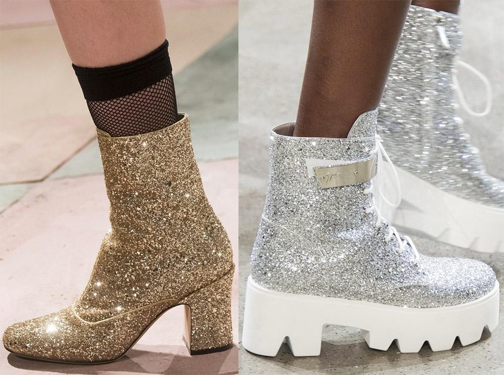 Блестящая женская обувь
