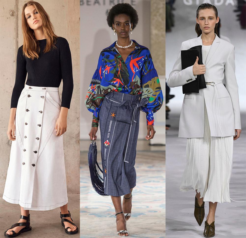 Красивые длинные юбки для модных образов 2019