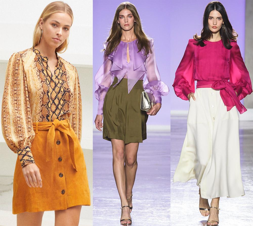 Красивые блузки для женщин и девочек – тренды 2019