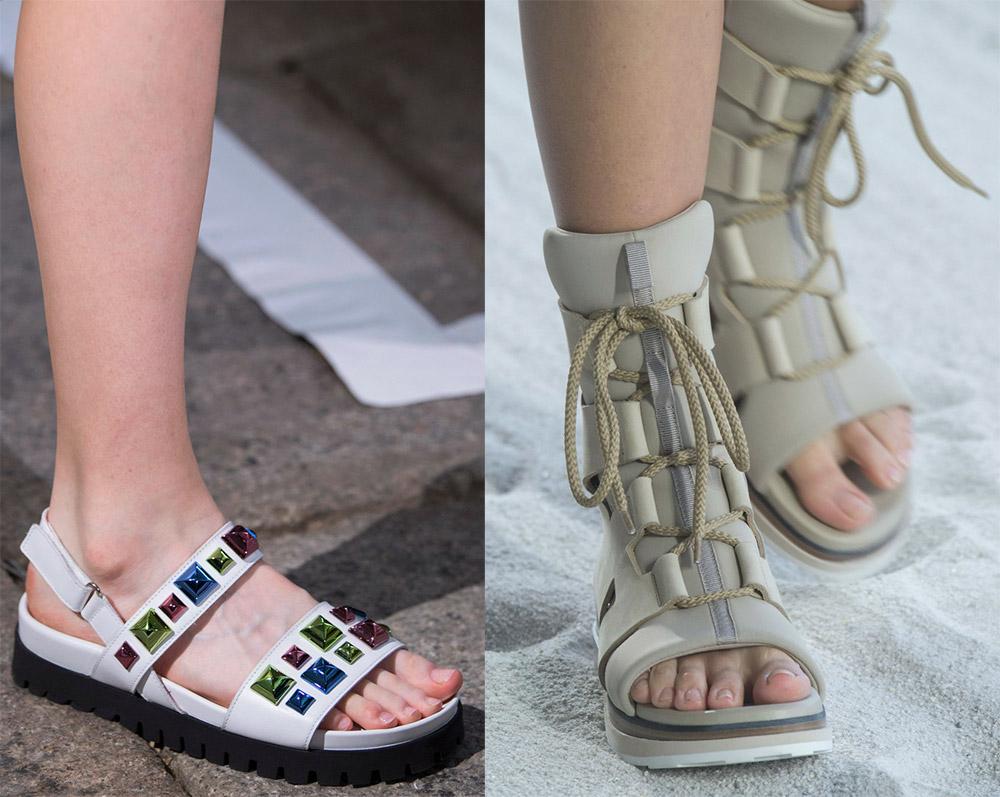 Модные сандалии на плоской подошве – лето 2019