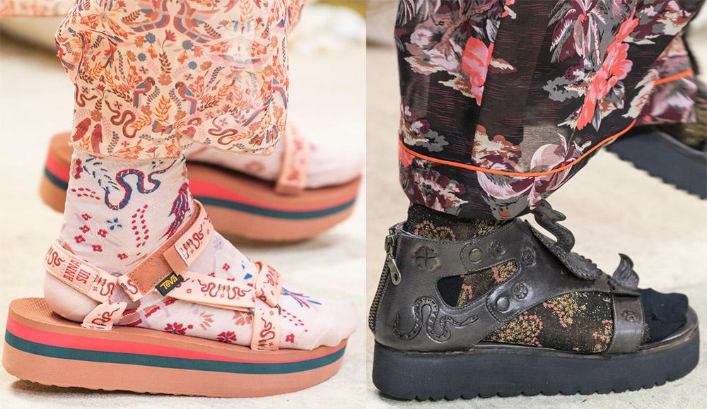 Модные сандалии на плоской подошве
