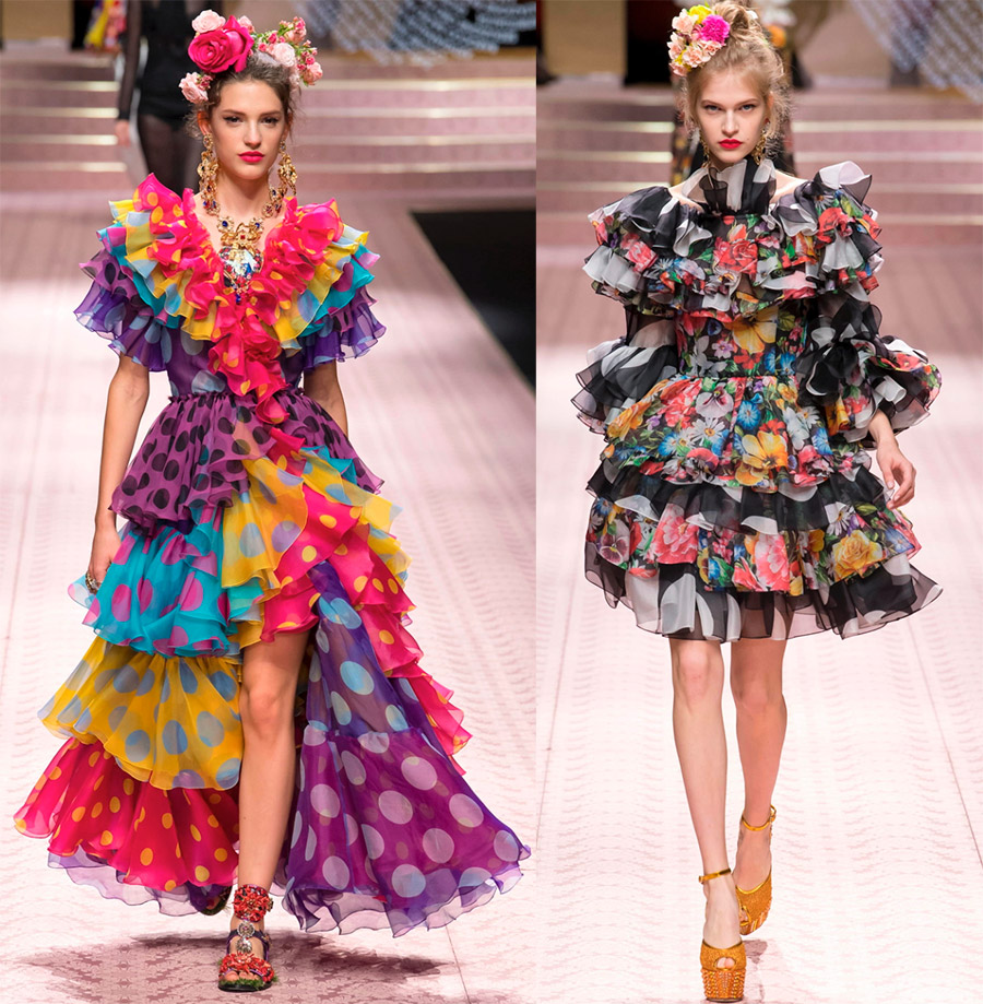 Смешение принтов Dolce & Gabbana