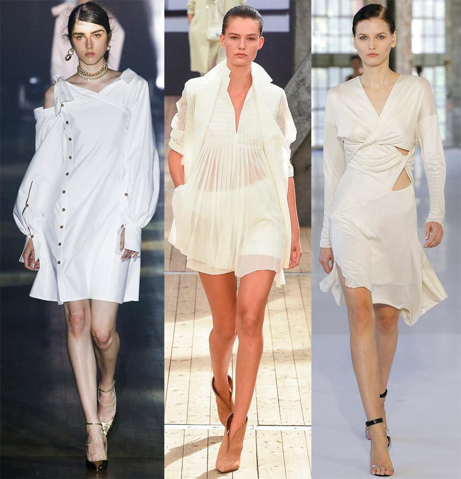 Короткие белые платья на выпускной
